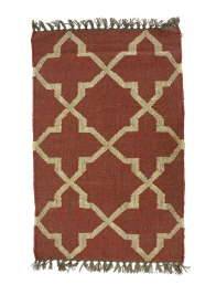 3ft & 6ft Red & Natural Moor Wool & Jute Rugs