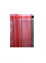 90 & 102in Pink Organza Curtain Panel