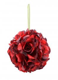 red rose ball JM-2948X18-RD-BK2