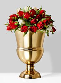 10 ¼in Gold Urn Vase