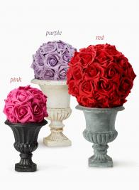 PURPLE, PINK, & RED ROSE FLOWER BALLS