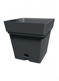 Samba Anthracite Black Framework Low Square Planters
