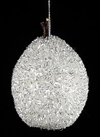 silver tinsel pear ornament 68222949-1