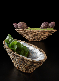 Single Roll Hyacinth Oval Bowl