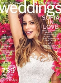 martha stewart weddings sofia vergara cover fall 2015