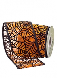 spiderweb halloween ribbon RW3305-ORBK