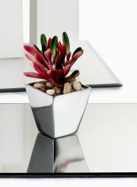 square mini aluminum vase