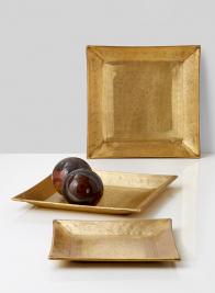 square brass trays home decor