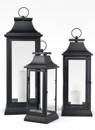 15in, 20in, & 25in Black Hampton Lanterns