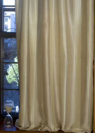 90in & 102in Variegated Silk Stripe Curtain Panels