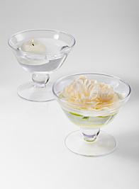 wazon koral glass pedestal bowl wedding centerpiece