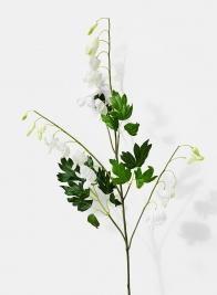 white bleeding hearts fake flower stem