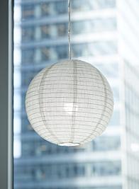 white linen fabric lantern