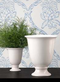 5 x 8in White Porcelain Urn