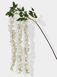 white wisteria silk flower spray