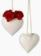 6in Porcelain Heart Vase