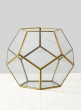 11in Glass Honeycomb Candleholder