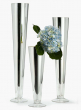16-, 24-, & 28-inch H Silver Trumpet Vases