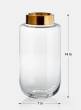 14in Gold Mouth Jar Vase