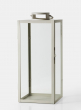 24in Antique White Square Lantern