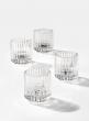 Pleated Glass Tea Light Holder, Set of 4