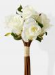 white silk rose bouquet