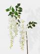 white silk flower wisteria spray