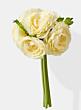 cream ranunculus wedding bouquet