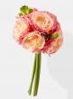 pink ranunculus silk flower bouquet