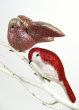 Pink & Red Glitter Bird Ornaments
