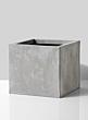 square galvanized gray pot