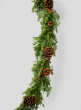Cypress Garland With Pine Cones