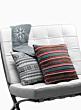 14in White & Grey Fair Isle Knit Pillow