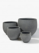 Round Rough Grey Ficonstone Pots