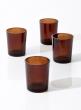dark amber glass tealight and votive holder