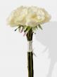 white silk flower rose arrangement