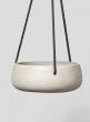 9 1/2in Dark Grey Round Hanging Cement Pot