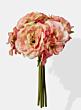 pink bronte silk flower bouquet