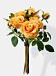 orange pippa rose mini silk flower bouquet