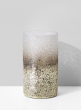 3 1/2 in x 6  1/2  Pewter Ombre Glass Vase
