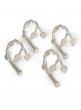 Silver Twig Napkin Ring, Set of 4