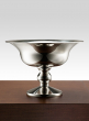 nickel pedestal compote floral centerpiece vase