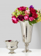 nickel bowl pedestal vase