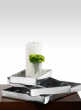 large-rectangular-aluminum-tray-catering-candle-display
