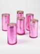 2x4 Antique Light Pink Cylinders, Set of 6