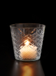 crystal look glass candleholder
