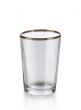 Tapered Glass Votive Holder With Gold Rim, Set of 6