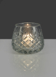 Diamond Cut Glass Roly-Poly Vase