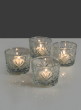 Diamond Cut Glass Votive Holder, Set of 4