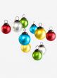 2in Matt Multi Color Glass Ball Ornament, Set of 10